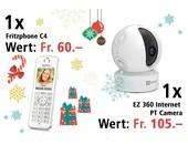 Am 5. Dezember eine EZ360 Überwachungskamera und ein Fritzphone C4 gewinnen.