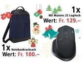 """Am 8. Dezember eine Logitech MX Masters 2S und einen Newport 15"""" Notebookrucksack gewinnen."""
