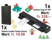 Am 10. Dezember einen Fujitsu Scanner Snap IX 100 und eine Valenta Leather Pocket Classic gewinnen.