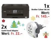 Am 12. Dezember einen FInkjet Brother MFC-J890DW und zwei Earth Travel Adapter gewinnen.
