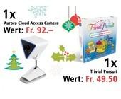 Am 13. Dezember eine Aurora Cloud Access Camera und eine Trivial Pursuit Familien Edition gewinnen