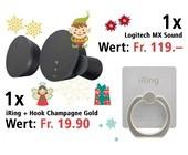 Am 14. Dezember einen Logitech MX Sound Lautsptrecher und ein iRing + Hook Champagne Gold gewinnen