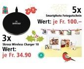 Am 18. Dezember Gutscheine für Smartphoto-Fotoprodukte und Skross Wireless Charger 10 gewinnen