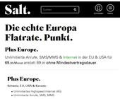 Salt All-inclusive-Mobilpaket für Europa in der Schweiz