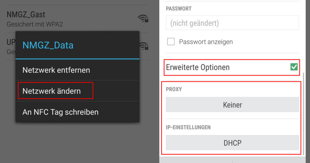Xing Passwort ändern