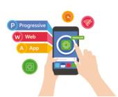 Progressive Web App auf Smartphone