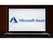 Microsoft-Azure-Logo auf Laptop-Bildschirm