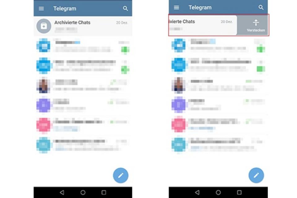 Telegram Archivierte Chats Rückgängig