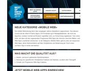 Best of Swiss Apps 2019 neu mit Kategorie «Mobile Web»