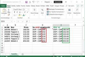 Excel Formel Mit