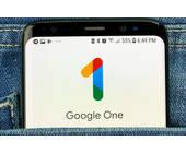 Google-One auf Smartphone-Bildschirm