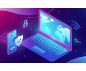 Mobilgerät und Notebook mit VPN