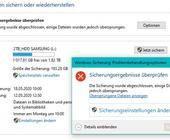 Windows-Backup findet ein Element nicht