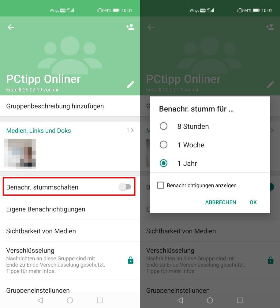 Whatsapp Gruppe Ausblenden