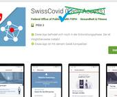 Screenshot SwissCovid-App im Play Store