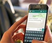 User mit Whatsapp Chat geöffnet