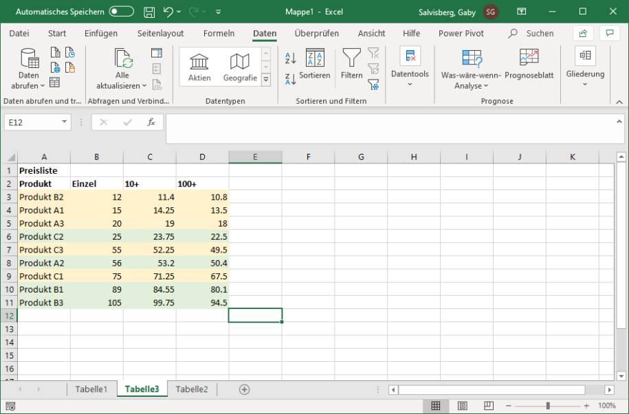 Excel/LibreOffice Calc: Zeilen abwechselnd einfärben ...