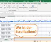 Excel-Screenshot mit fehlendem unteren Scrollbalken