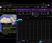 Screenshot Chrome- und Excel-Fenster in Schwarz mit bunten Schriften