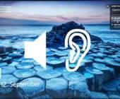 Screenshot Sperrbildschirm mit Lautsprechersymbol