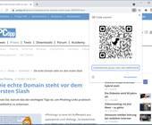 Screenshot Chrome mit QR-Code