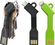 Das Nomad Cable (links) ist ein USB-Ladekabel für den Schlüsselbund. Zum Preis von rund 20 Euro sind verschiedene Varianten für Geräte mit Lightning- oder MicroUSB-Anschluss verfügbar. Deutlich billiger sind die Nachbauten von iProtect.