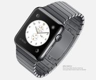 """Apple Watch - Die smarte Uhr von Apple funktioniert nur in Kombination mit einem iPhone 5 oder höher. Ausgestattet mit Retina-Display und Saphirglas soll die """"iWatch ohne i"""" mit Sprachassistent Siri, Pulssensor und vorinstallierten Fitness-Apps punkten."""