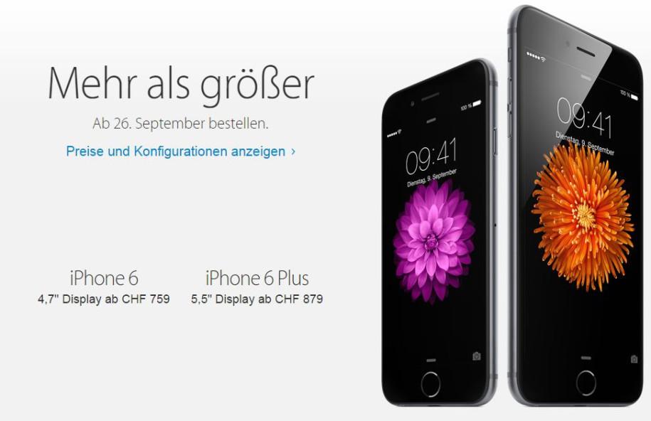 iphone schweiz