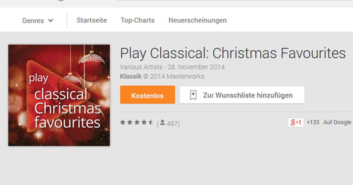 weihnachtsmusik kostenlos bei google play. Black Bedroom Furniture Sets. Home Design Ideas