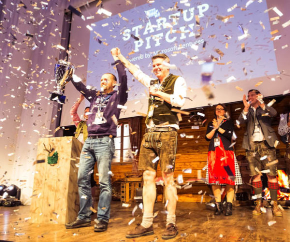 Datarella gewinnt Start-up-Pitch beit Bits and Pretzels