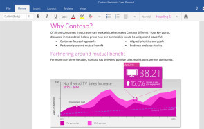 Microsoft Office WIndows 10 Word App