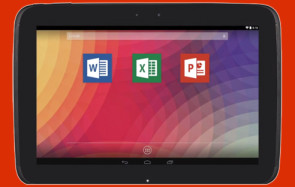 Office-Apps auf Android-Tablet