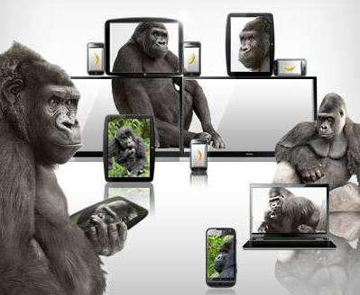 Gorillas zeigen Tablets