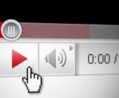 Play-Button von Videos