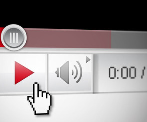 Play-Button von Videos