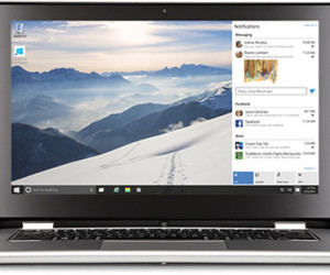 Notebook mit Windows 10