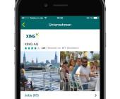 Handy mit Xing App Interface