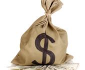 Geldsack mit Dollar Zeichen drauf