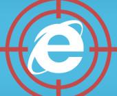 Internet Explorer mit Fadenkreuz