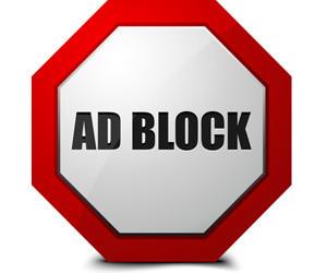 Stop-Schild mit Ad Block