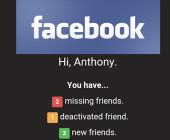 Fehlende Facebook-Freunde
