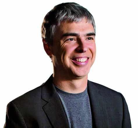 Gemeinsam mit Sergey Brin gründete er 1998 Google und führte das Unternehmen bis 2001 als CEO, dann übergab er an Eric Schmidt. - Larry-Page_w474_h440
