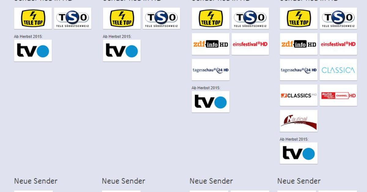 Neue Sender