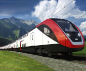 Zug der SBB in den Bergen