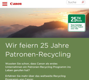 "Canon erhält den ""People's Choice Award"" für Laser Cartridge Recycling"