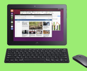 Ubuntu-Tablet mit Maus und Tastatur