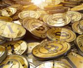 Goldene Bitcoins