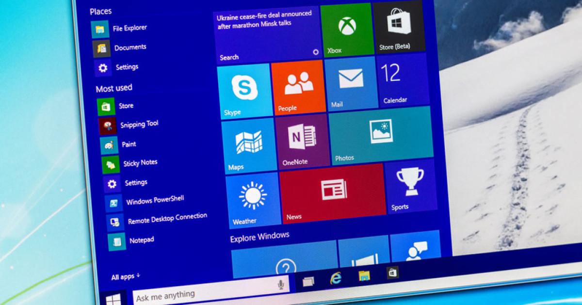 Windows 10 Startmenü Bearbeiten