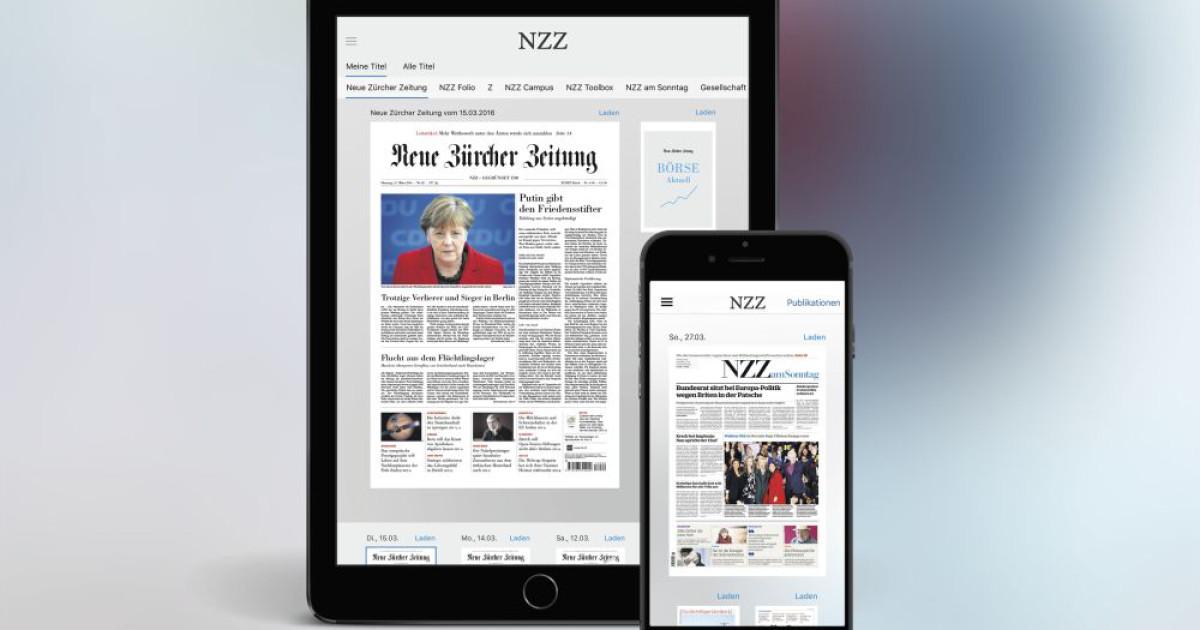 neues e paper von der nzz f r android ios und windows 10. Black Bedroom Furniture Sets. Home Design Ideas