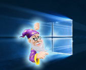 Zauberer mit Windows-10-Logo